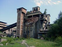 Free Coal Preparation Building, Coal Mine, Ruins, Jiu Valley, Romania Stock Photo - 169126000