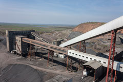 Coal preparation plant and the surrounding views Stock Image