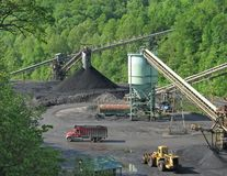 Coal processing facility Royalty Free Stock Photo