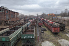 Coal Railroad Car. S. railway wagons Royalty Free Stock Photography