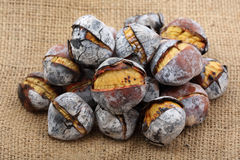 Coal roasted chestnuts Stock Photos