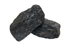 Coal rocks Royalty Free Stock Images