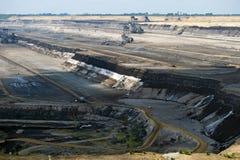 Coal seam. Opencast coal seam Garzweiler in Rhineland stock photography