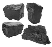 Coal set. On white background Royalty Free Stock Image