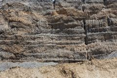 Coal shale layer in profile Stock Images