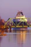 Coal Ship at RR Bridge 2 Royalty Free Stock Images