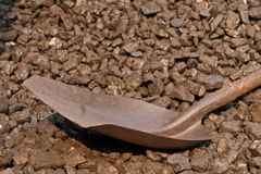 Coal and shovel Royalty Free Stock Photo