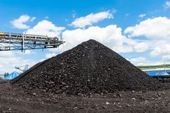 Coal stacker and Coal Reclaimer are mining machinery, or mining. Equipment in the mining industry that large or huge machine used in bulk material handling in Stock Images