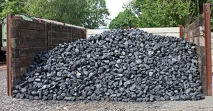 Coal Stock. Stock Photography
