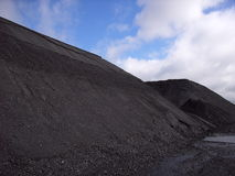 Coal stockpile Royalty Free Stock Photo