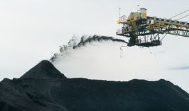 Coal Stockpile Stock Image