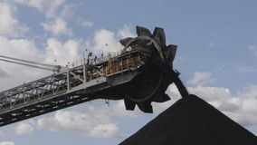Coal stockpile stock footage