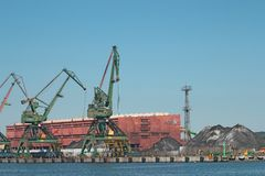 Coal storage terminal in Gdynia Royalty Free Stock Images
