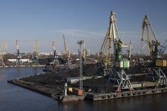 Coal terminal Royalty Free Stock Image