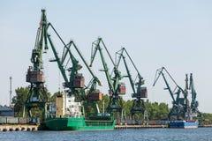 Coal terminal at the port Stock Image