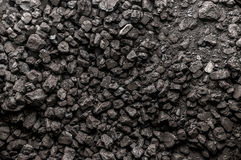 Coal texture. Pile of coal texture/background Royalty Free Stock Photography