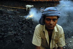 A Coal Thief Royalty Free Stock Photo