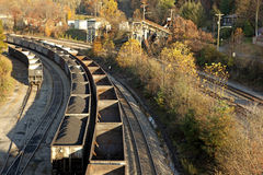 Coal train Appalachia Royalty Free Stock Photos
