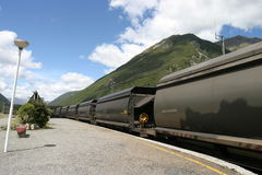 Coal Train in New Zealand Royalty Free Stock Photo
