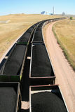 Coal train and power plant royalty free stock photo