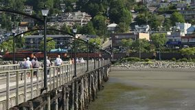 Coal Train, White Rock, British Columbia Stock Photo