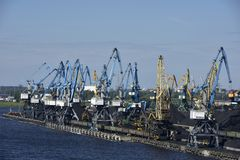 Coal Transfer Station near Riga, Letvia, Baltic States, Europe Stock Photography