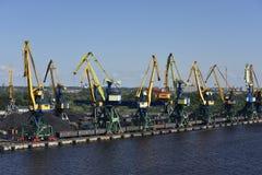 Coal Transfer Station near Riga, Letvia, Baltic States, Europe Stock Image