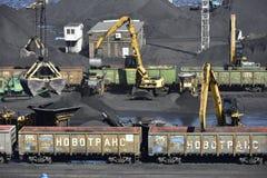 Coal Transfer Station near Riga, Letvia, Baltic States, Europe Royalty Free Stock Images