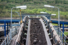 Coal transportation line. For processing Royalty Free Stock Photo