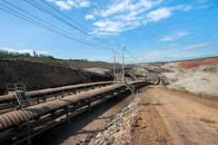 Coal transportation line Royalty Free Stock Photos