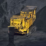 Coal transportation machine Royalty Free Stock Image