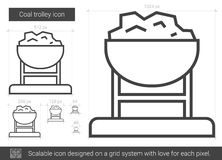 Coal trolley line icon. Royalty Free Stock Photography