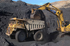 Coal truck loading Stock Photo