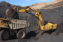 Coal truck loading Royalty Free Stock Image