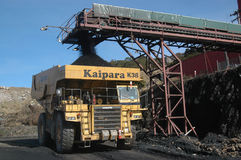 Coal truck loading Royalty Free Stock Photo