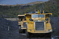 Coal trucks Stock Images