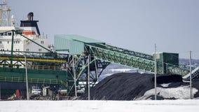 Coal unload Royalty Free Stock Image