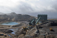 Coal washing facility. At an open cast coal mine, Westland, New Zealand Royalty Free Stock Images