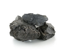 Coal on white background Royalty Free Stock Photography