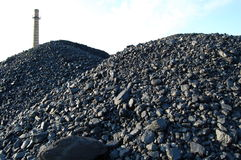 Coal yard Royalty Free Stock Photos