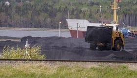 Coal yard Royalty Free Stock Photography