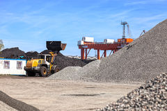 Coal yard storage Stock Image
