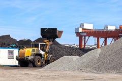 Coal yard storage Stock Photography