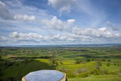 Coaley Peak viewpoint near Nympsfield, Gloucestershire, UK. Coaley Peak viewpoint view from the edge of the Cotswold escarpment near Nympsfield, Gloucestershire royalty free stock photography