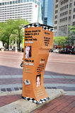 Coalition pour la boîte sans abri de collecte de fonds, Indianapolis Image stock