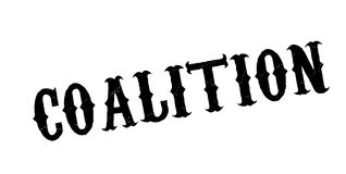 Coalition rubber stamp. Grunge design with dust scratches. Effects can be easily removed for a clean, crisp look. Color is easily changed vector illustration