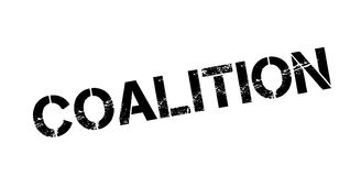 Coalition rubber stamp. Grunge design with dust scratches. Effects can be easily removed for a clean, crisp look. Color is easily changed Royalty Free Stock Image