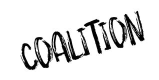 Coalition rubber stamp. Grunge design with dust scratches. Effects can be easily removed for a clean, crisp look. Color is easily changed Royalty Free Stock Images