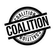 Coalition rubber stamp. Grunge design with dust scratches. Effects can be easily removed for a clean, crisp look. Color is easily changed Stock Images