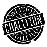 Coalition rubber stamp. Grunge design with dust scratches. Effects can be easily removed for a clean, crisp look. Color is easily changed stock illustration